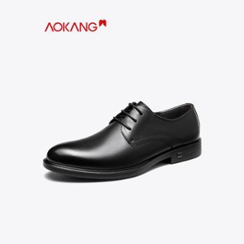 奥康男鞋新款商务正装皮鞋真皮鞋子男英伦德比鞋舒适单鞋