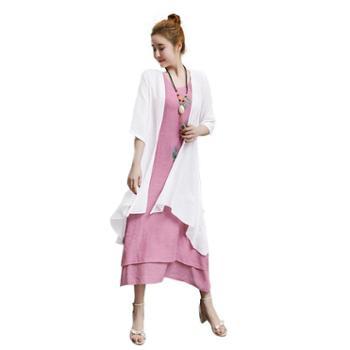 亲春春季棉麻连衣裙套装ZYQD88
