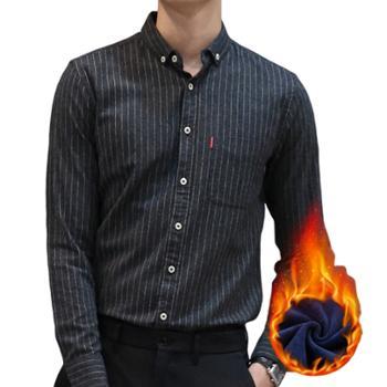 gangsta冬季新品加绒衬衫 休闲保暖衬衫 T606