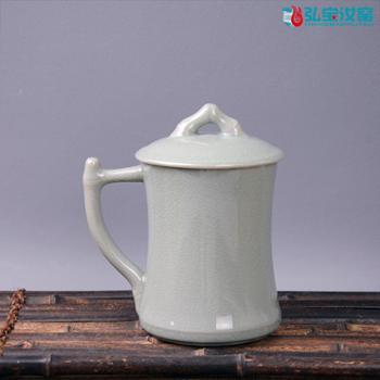 弘宝汝窑 粉青釉 节节高升杯 高档礼盒包装
