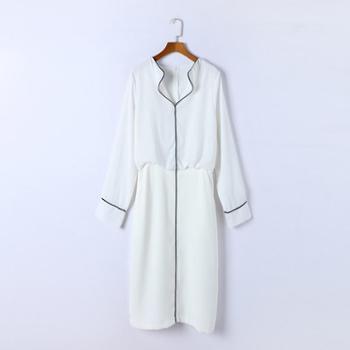 sandalling显瘦气质假两件连衣裙9508