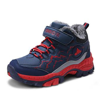 上匠风华秋冬款加棉儿童运动鞋E9903