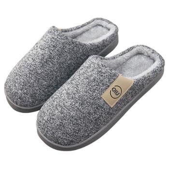 冬季男士棉拖鞋男家居室内包跟厚底居家保暖毛毛拖鞋女冬JJDD8018