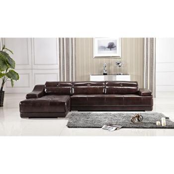 爱尚家具俬游记现代时尚转角沙发环保皮3人位带贵妃位
