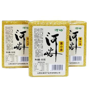 山西河峪黄小米500g*3优级新米食用富锌米粮食小黄米粥粗杂粮