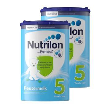 【2件装】荷兰牛栏(Nutrilon)荷兰原装进口婴幼儿配方奶粉5段(适合2岁以上)800克(新老包装随机发送)