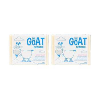 【2件装】澳洲(GoatSoap)保湿滋润天然羊奶手工洗脸沐浴皂(山羊奶原味精华)100克/块