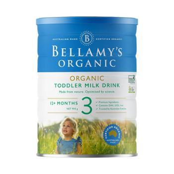 贝拉米有机奶粉3段900克/罐