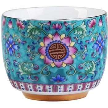 品瓷汇珐琅彩向阳花品茗杯