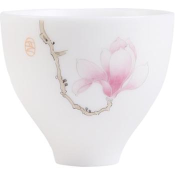 品瓷汇德化建白瓷薄胎玉兰花禅意杯