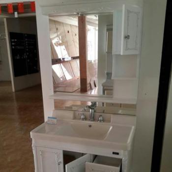欧美森 落地卫浴柜 卫生间欧式卫浴柜 洗脸盆洁具合(长95米)
