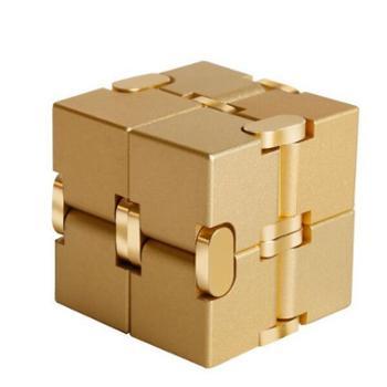 撩天铝合金无限魔方Cube减压神器创意玩具翻转口袋方块