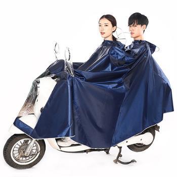 英玛仕摩托车电动车雨衣单人双人加大加厚遮脚雨披