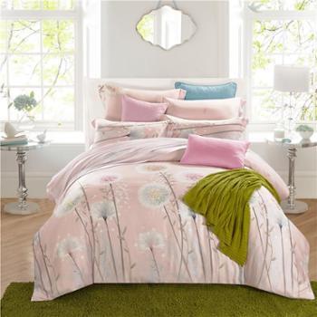圣艾璐妮AB版莫奈尔天丝四件套床上用品家纺四件套