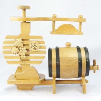 """森帝酒具""""本色葡萄架款""""0.75L 木质本色"""