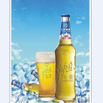 快乐七箭冰纯啤酒450ml*12瓶