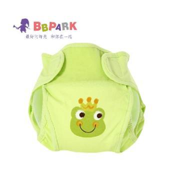 贝贝帕克 宝宝隔尿裤婴儿尿布裤 全棉透气防漏尿布兜布尿裤推荐