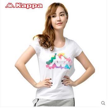 Kappa 背靠背女T恤 女圆领短袖 运动女款修身 |K0422TD01