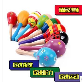 特价幼儿园早教乐器早操舞蹈大号沙锤沙球木制儿童益智早教玩具一件
