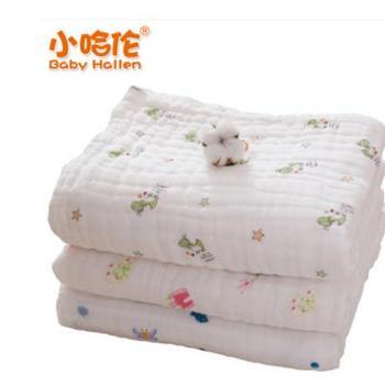 小哈伦婴儿浴巾宝宝儿童纱布毛巾被新生儿纯棉超柔全棉大盖毯加厚