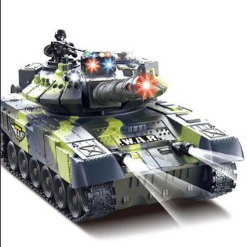 华成遥控坦克模型超大亲子对战可发射充电动儿童越野玩具金属男孩汽车