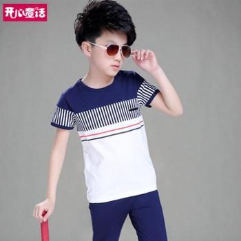 童装男童夏装套装2019新款中大童运动夏季儿童两件套男孩帅气潮衣