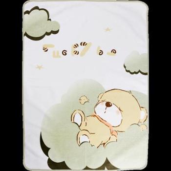 拉比童装四季新品婴幼儿初生男女宝宝隔尿防水垫巾 小熊尿垫80*60