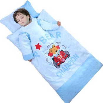 婴儿睡袋儿童春秋冬款冬季加厚幼儿小孩被子宝宝中大童防踢被神器