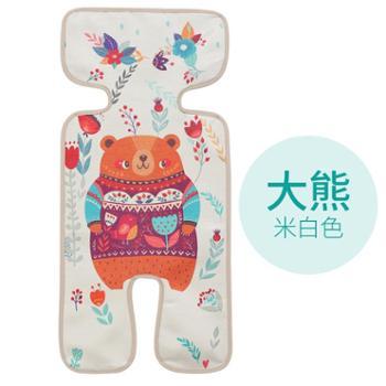 婴儿推车凉席垫儿童宝宝通用夏季透气餐椅安全座椅bb小手推车冰丝