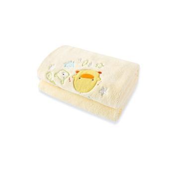 黄色小鸭婴儿童小毛毯子珊瑚绒宝宝空调被幼儿园午睡盖毯礼盒四季