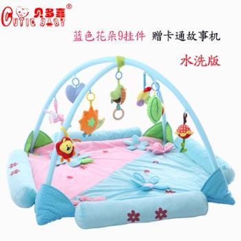 宝宝音乐健身游戏毯爬行垫新生婴儿3-12个月益智玩具满月用礼品物 一个装