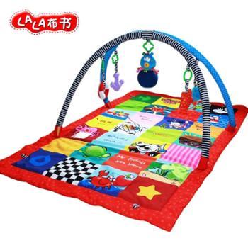Lalababy拉拉布书婴儿游戏毯音乐爬行健身器益智爬行垫儿童游戏垫 一个装