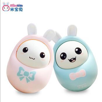 米宝兔婴儿玩具不倒翁点头娃娃3-6-9-12个月宝宝早教益智0-1-3岁