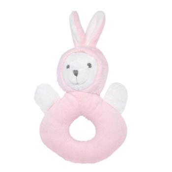 法国0-1岁婴儿安抚毛绒玩具0-12个月宝宝益智铃铛布玩偶 手摇铃