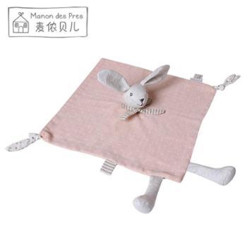法国婴儿安抚巾可入口纯棉纱布睡眠玩偶宝宝可咬安抚玩具男孩女孩