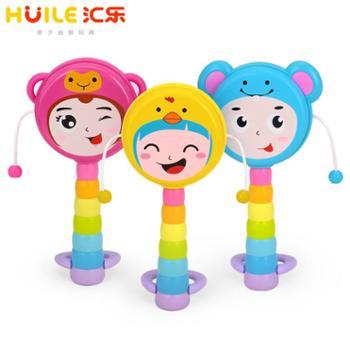 汇乐玩具12生肖拨浪鼓0-1-2岁婴幼儿宝宝早教安抚手摇铃沙锤铃鼓