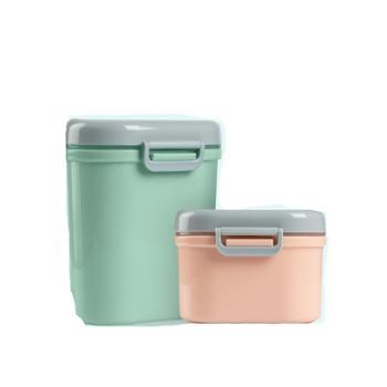 宝宝奶粉盒便携式 大容量婴儿外出装米粉储存罐便携盒防潮分装盒