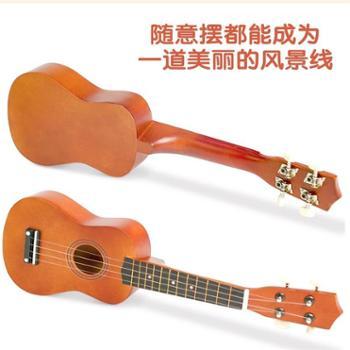 尤克里里初学者儿童小吉他玩具可弹奏学生成人少女孩木质乐器男