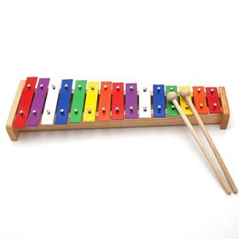 专业音准15音打击琴儿童乐器音乐玩具手敲琴奥尔夫早教乐器