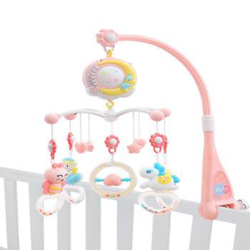 新生婴儿床铃音乐旋转3-6个月男孩宝宝床头风铃挂件女孩摇铃玩具0