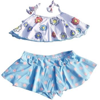 多澜娜 韩国小童女童宝宝泳衣分体游泳衣女小孩1-3岁婴幼儿女宝儿童可爱