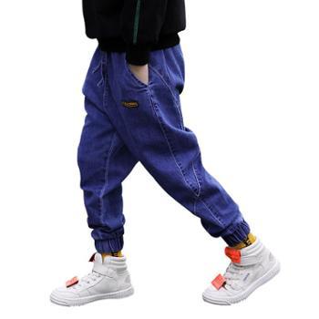博士衣成童装男童牛仔裤春秋款新款韩版大童休闲裤子洋气儿童潮流长裤