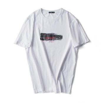 唐狮2019纯棉男装短袖夏季男士青春活力标准T恤圆领打底衫