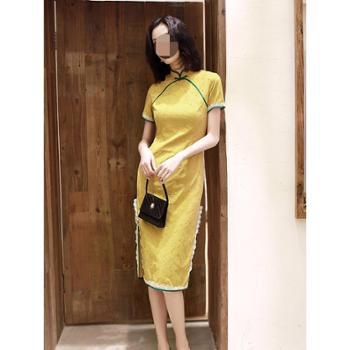 贵佩旗袍新式春新款改良连衣裙中国风修身显瘦日常名媛