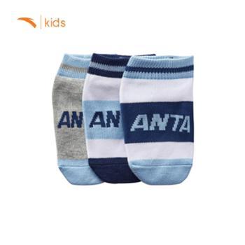 安踏儿童 儿童袜子儿童运动袜舒适男女童袜时尚袜3双装袜子套装