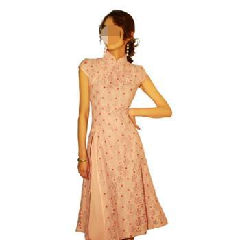 颜赋绣春季日常旗袍中国风连衣裙复古蕾丝改良显瘦小香风