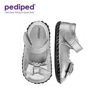 PEDIPED/派迪派女童 浅口软底花边蝴蝶结公主步前鞋皮鞋