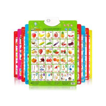 乐乐鱼汉语拼音有声挂图幼儿童认知启蒙早教发声宝宝看图识字玩具字母表