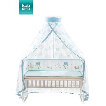 KUB/可优比婴儿床蚊帐宝宝蚊帐可折叠带支架无底开门式小孩蚊帐罩