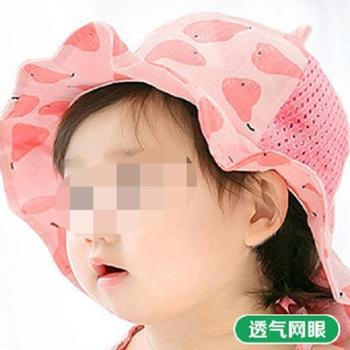 公主妈妈婴儿小碎花帽子春秋遮阳男女宝宝帽子儿童太阳帽沙滩帽
